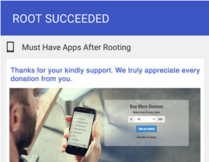 Mobile is Rooted, kingo root